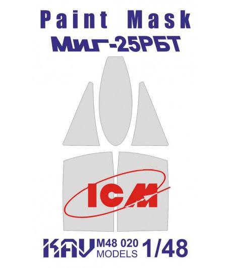 Окрасочная маска на Миг-25РБТ (ICM) KAVmodels KAV M48 020