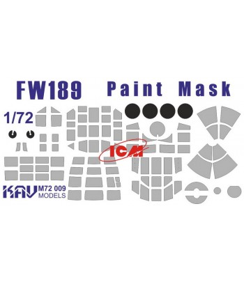 Окрасочная маска для Fw189 (ICM) KAVmodels KAV M72 009 KAVmodels KAV M72 009