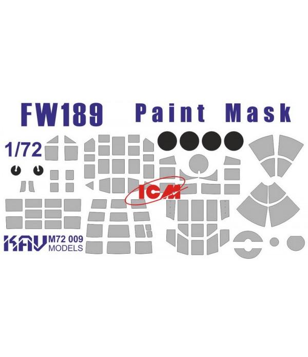 Окрасочная маска для Fw189 (ICM) KAVmodels KAV M72 009