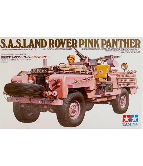 Английский джип спецназа (SAS) Land Rover Pink Panther с фигурой водителя TAMIYA 35076