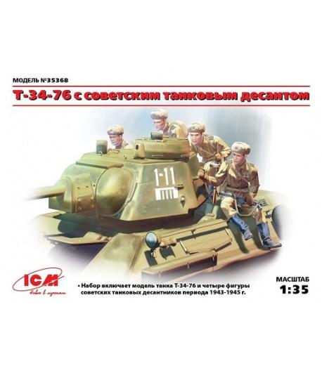 Т-34-76 с советским танковым десантом ICM 35368