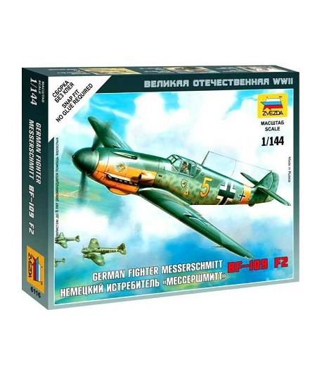 """Немецкий истребитель """"Мессершмитт"""" BF-109 F2 ЗВЕЗДА 6116"""