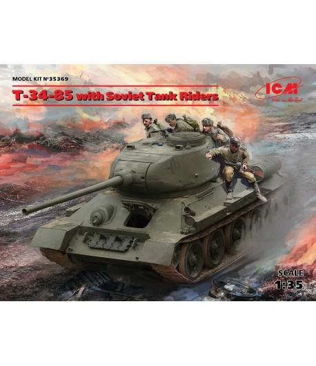 Т-34-85 с советским танковым десантом ICM 35369