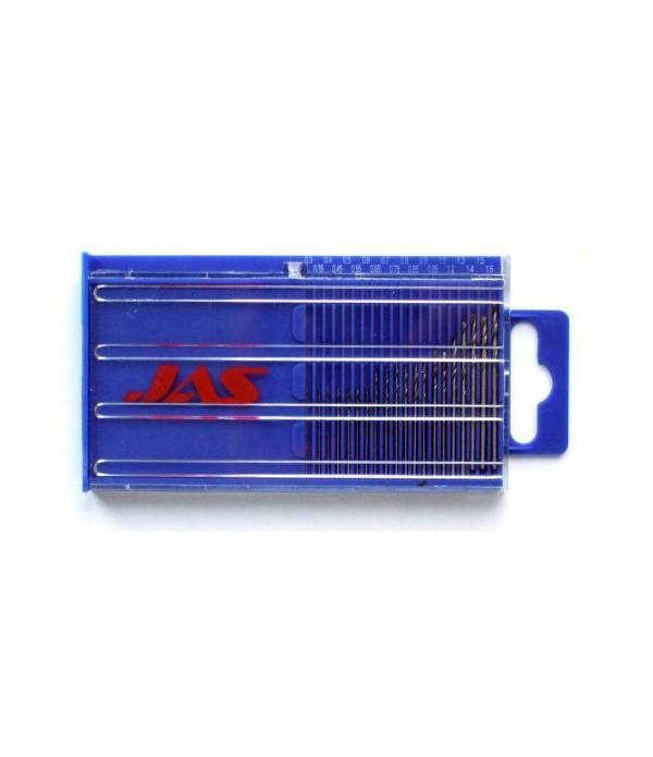 Мини-сверла, диаметр 0,3 - 1,6 мм, набор, 20 шт., HSS 6542, нитрид-титановое покрытие JAS 4278