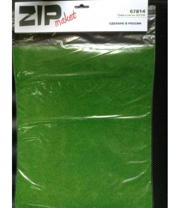 Трава в листах 300*250 ZIP-maket 67814